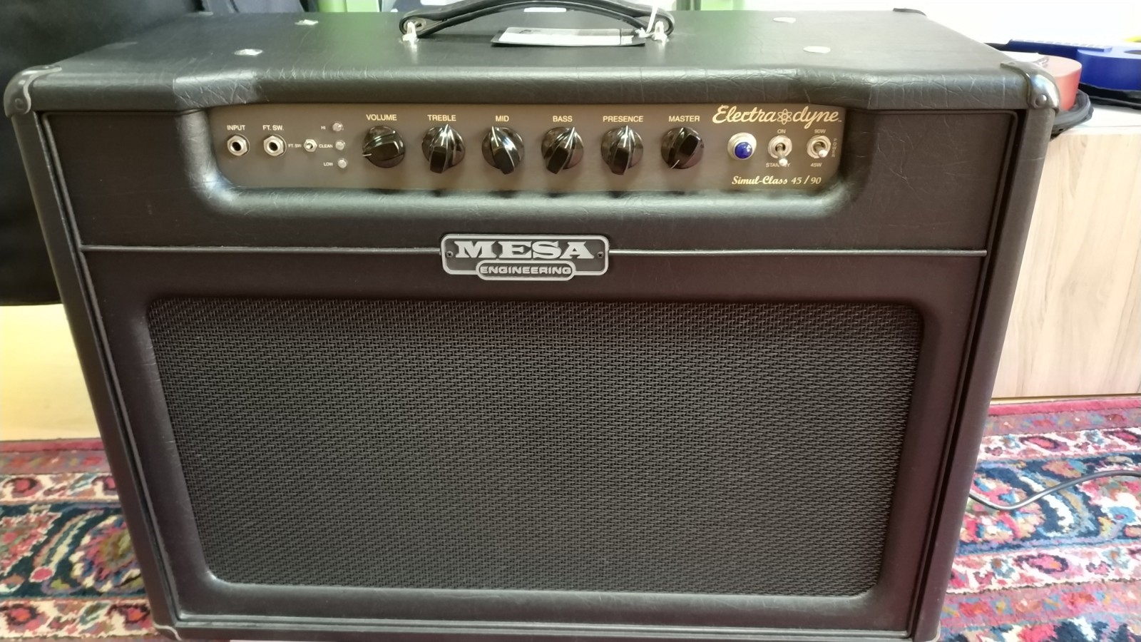mesa boogie electra dyne combo valvolare 45 90w footswitch cover. Black Bedroom Furniture Sets. Home Design Ideas